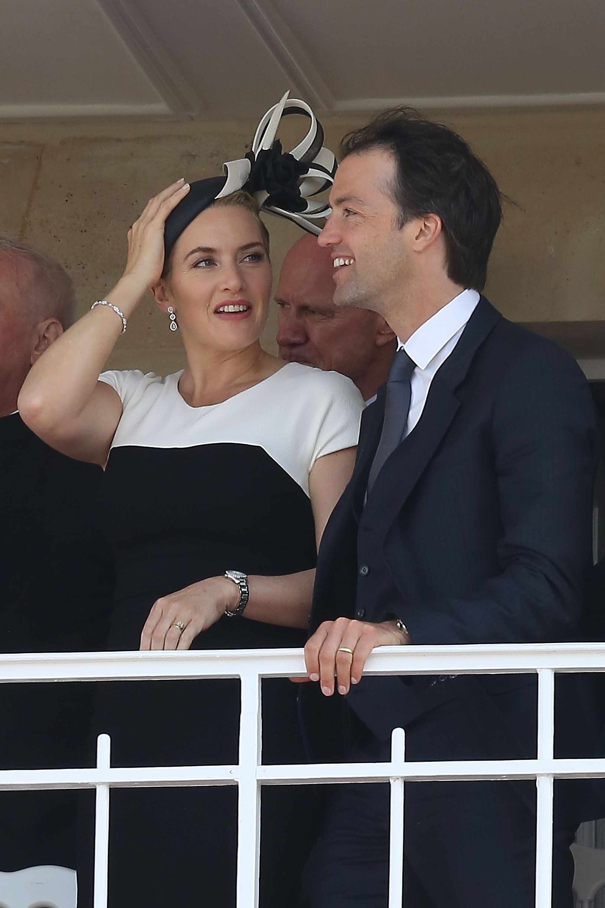 Kate Winslet and husband Ned Rocknroll at the 'Prix de Diane Longines 2014' in 2014 in Chantilly, France | Source: Getty Images