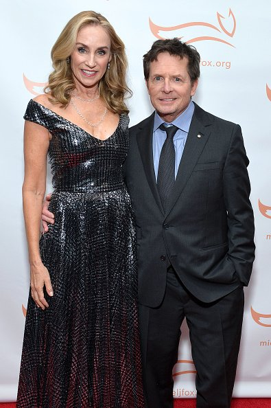 Tracy Pollan and Michael J. Fox on November 16, 2019 in New York City. | Photo: Getty Images
