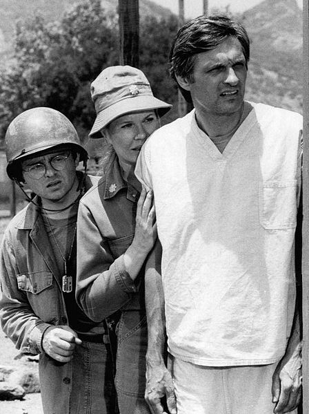 """Gary Burgoff, Loretta Swit and Alan Alda from the television program """"M*A*S*H.""""   Source: Wikimedia Commons"""