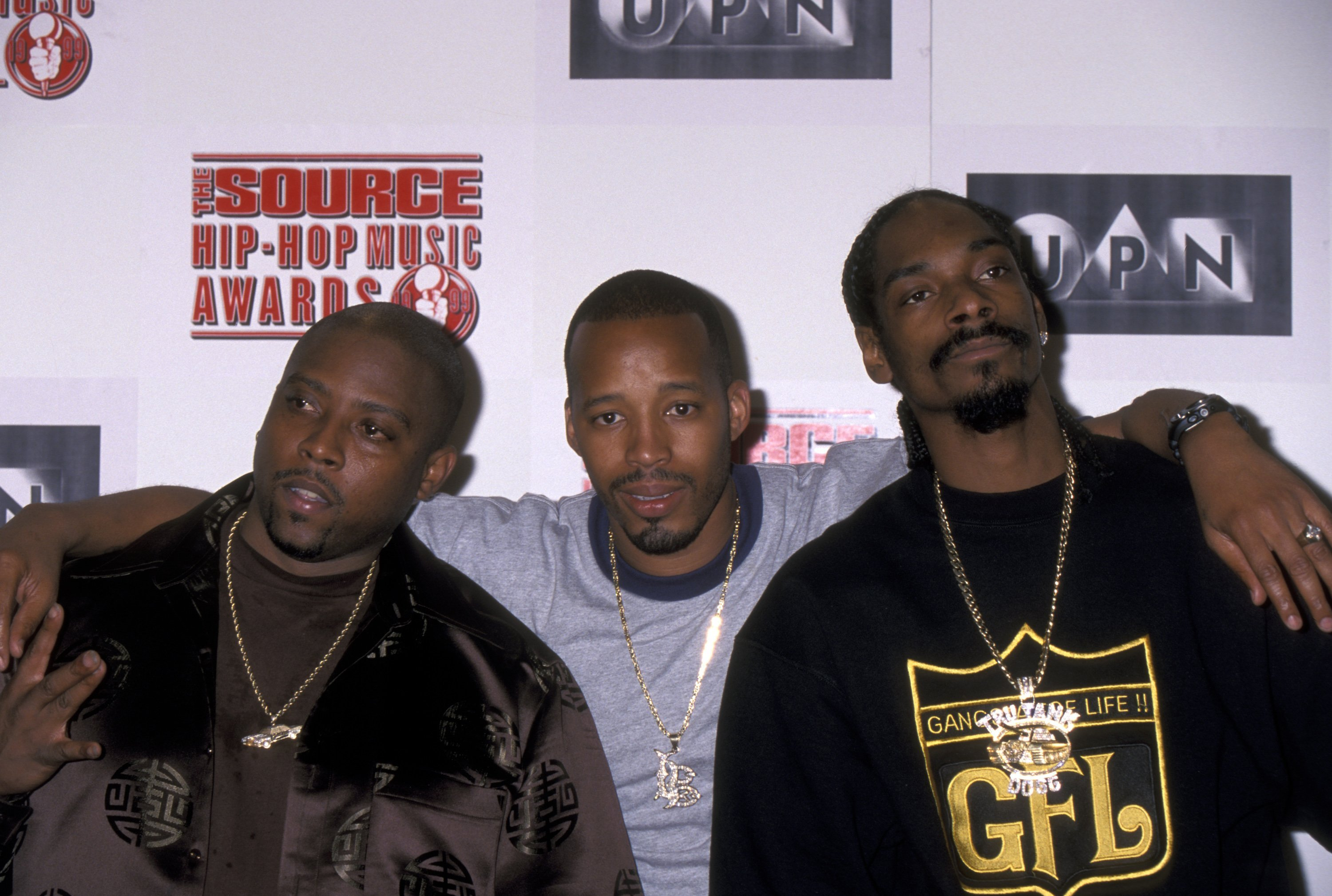 """Snoop Dogg, Nate Dogg and Warren G of """"213"""" during Snoop Dogg, Nate Dogg and Warren G Form Hip Hop Supergroup 213 at Millenium Hotel 