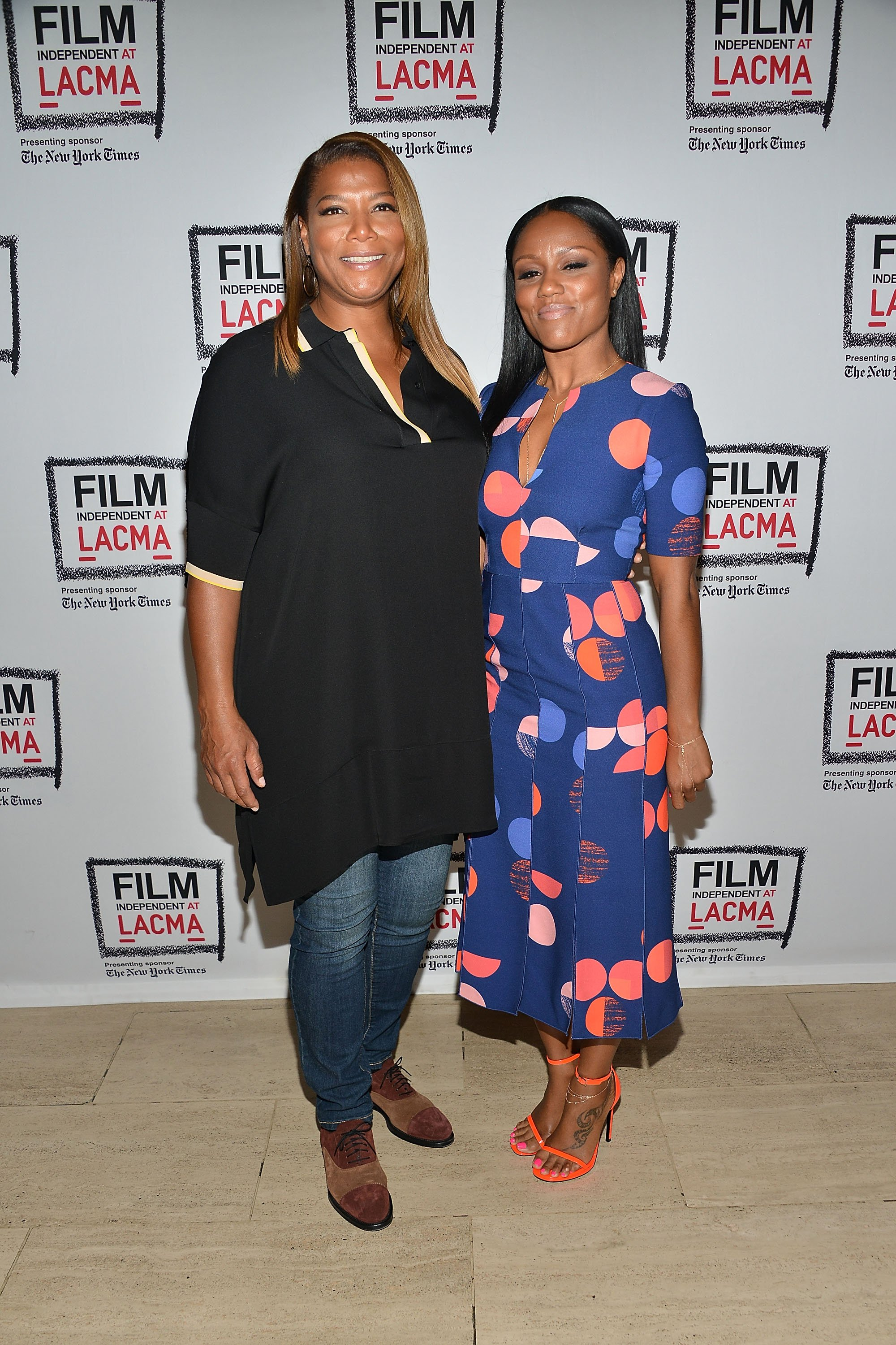 "Queen Latifah and Eboni Nichols attend the Film Independent at LACMA special screening of ""Bessie"" at LACMA on May 9, 2015  