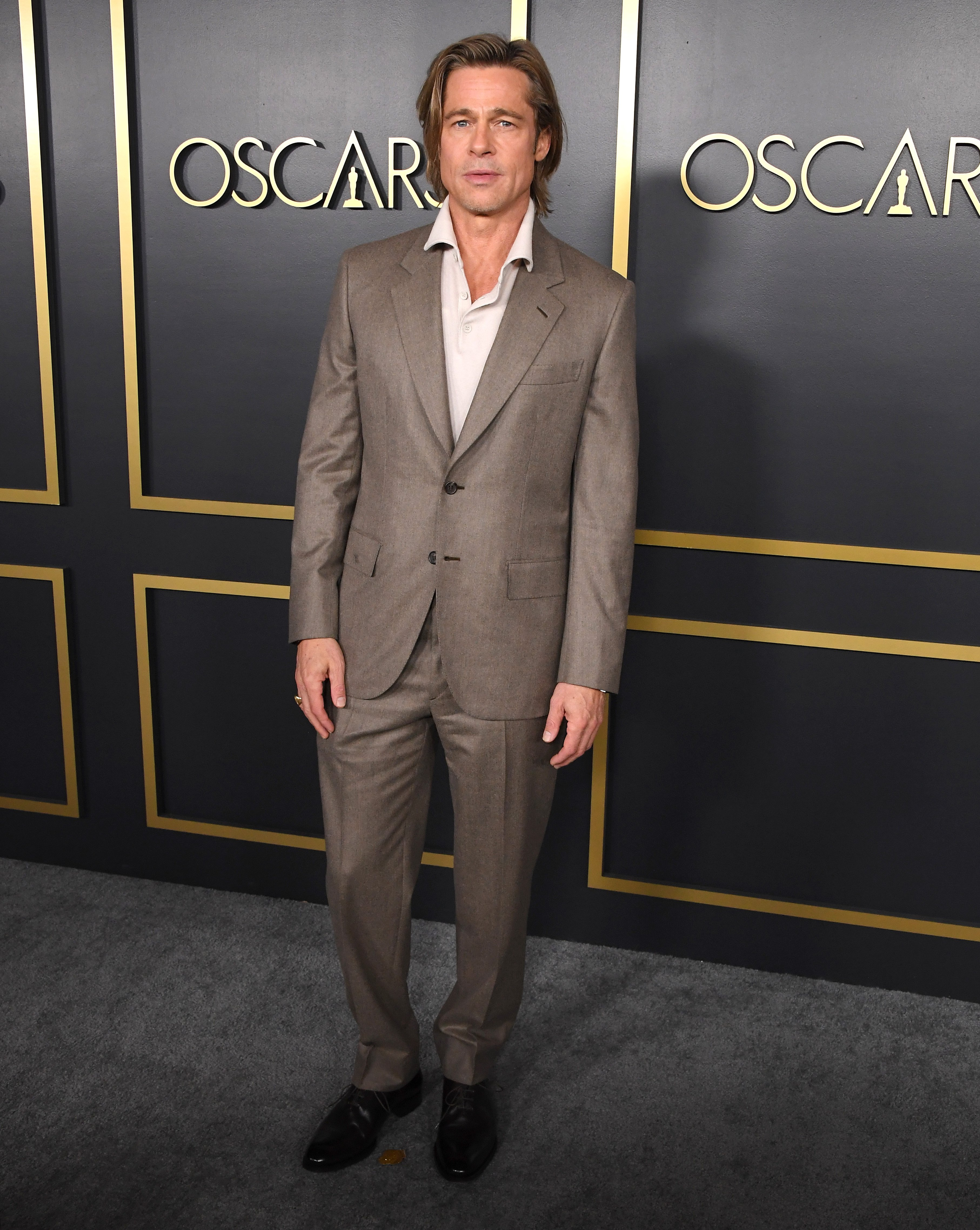 Brad Pitt  at the 92nd Oscars Nominees Luncheon in Hollywood, California   Photo: Steve Granitz/WireImage via Getty Images