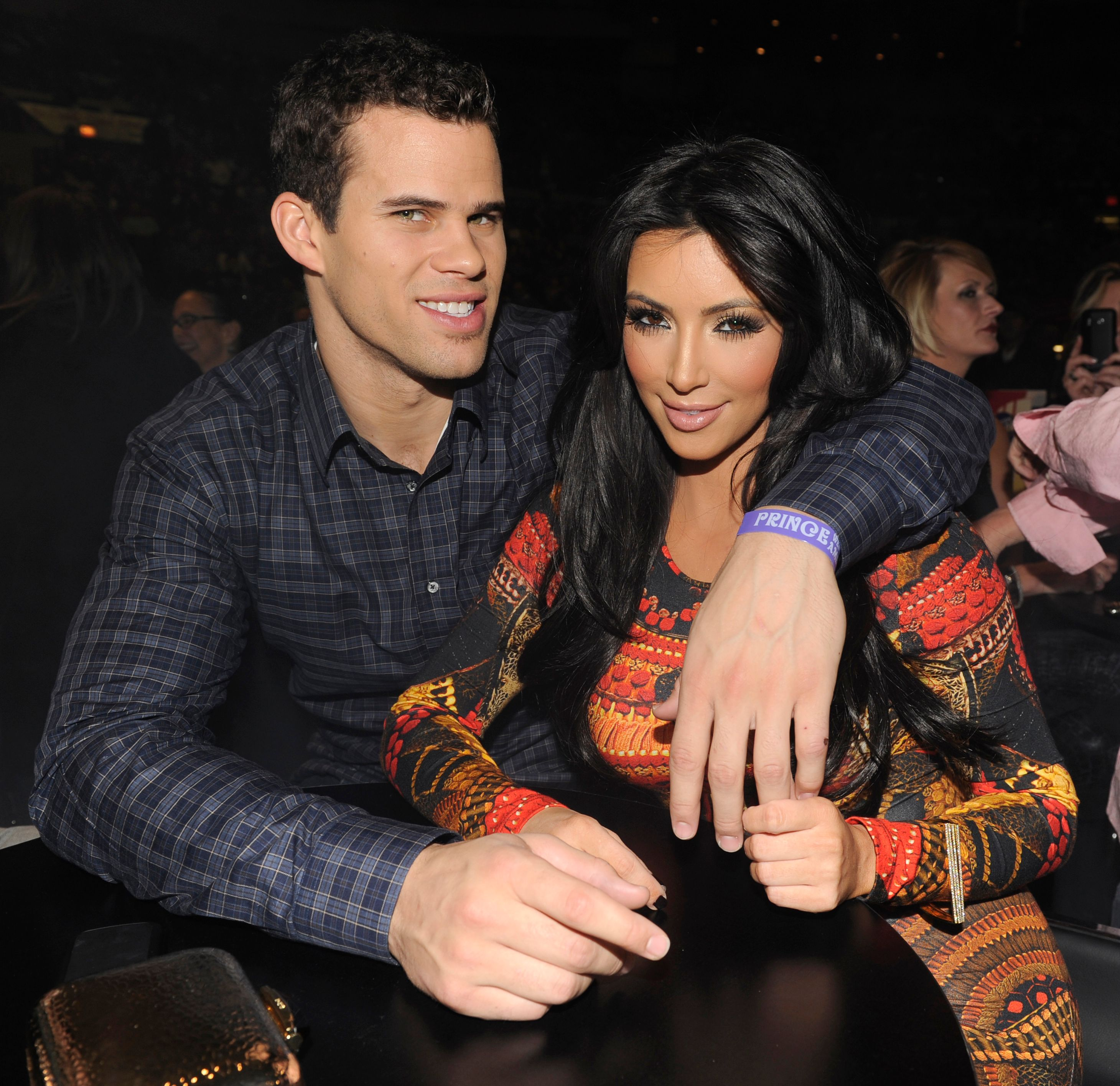 """Kris Humphries and Kim Kardashian at Prince's """"Welcome 2 America"""" performance in 2011 in New York City 