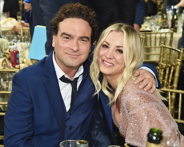 Johnny Galecki and Kaley Cuoco at Barker Hangar on January 11, 2018 in Santa Monica, California. | Photo: Getty Images