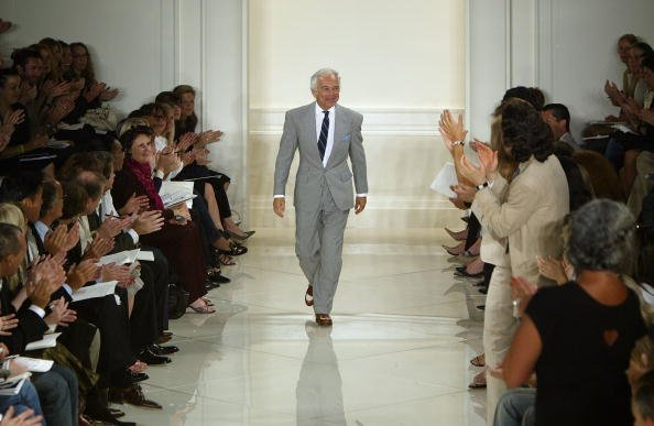 Ralph Lauren walks down the runway at the Ralph Lauren Couture Spring 2005 fashion show during the Olympus Fashion Week Spring 2005 September 15, 2004, in New York City. | Source: Getty Images.