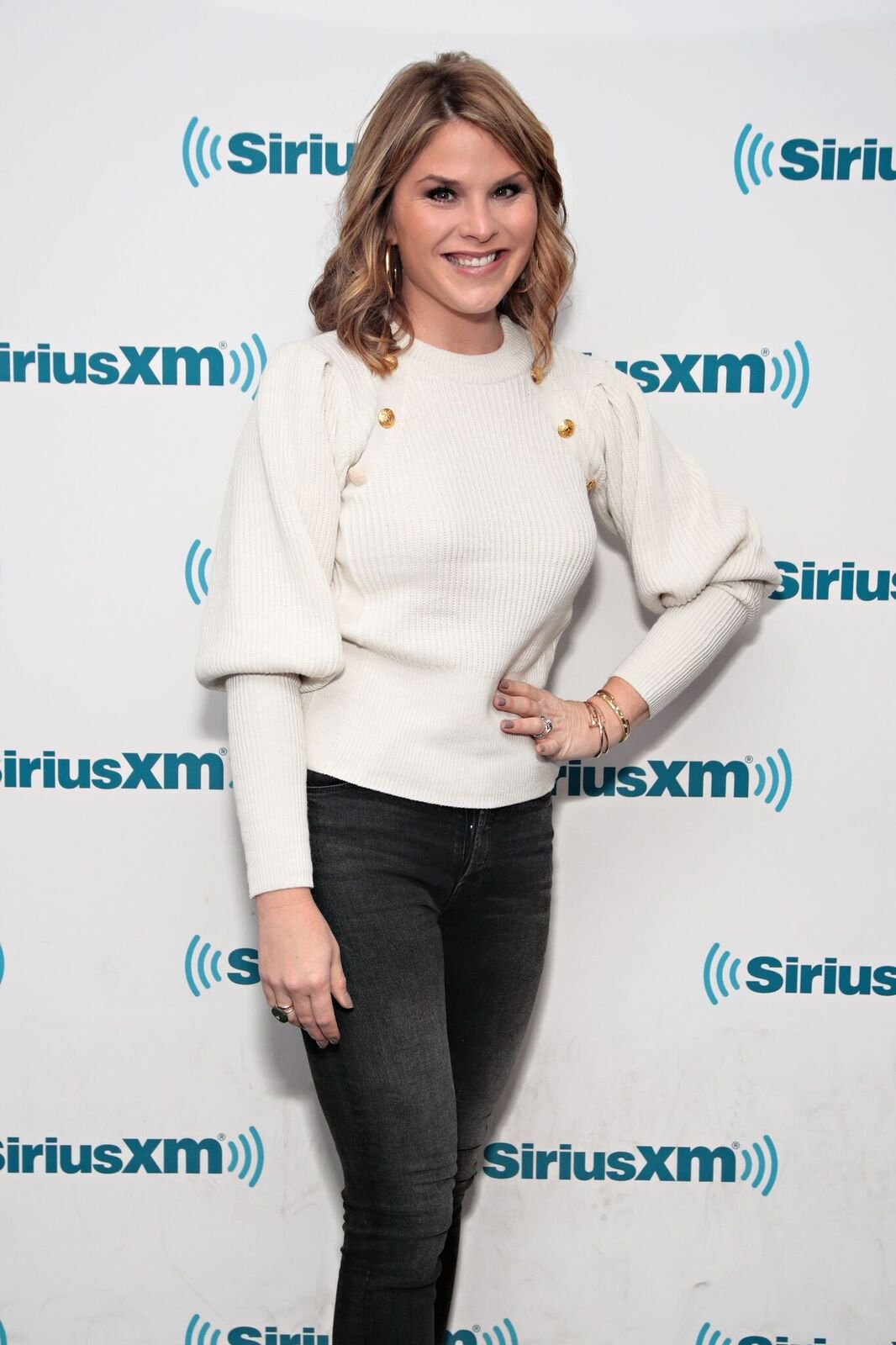 Jenna Bush Hager visits the SiriusXM Studios on November 15, 2017 in New York City | Photo: Getty Images