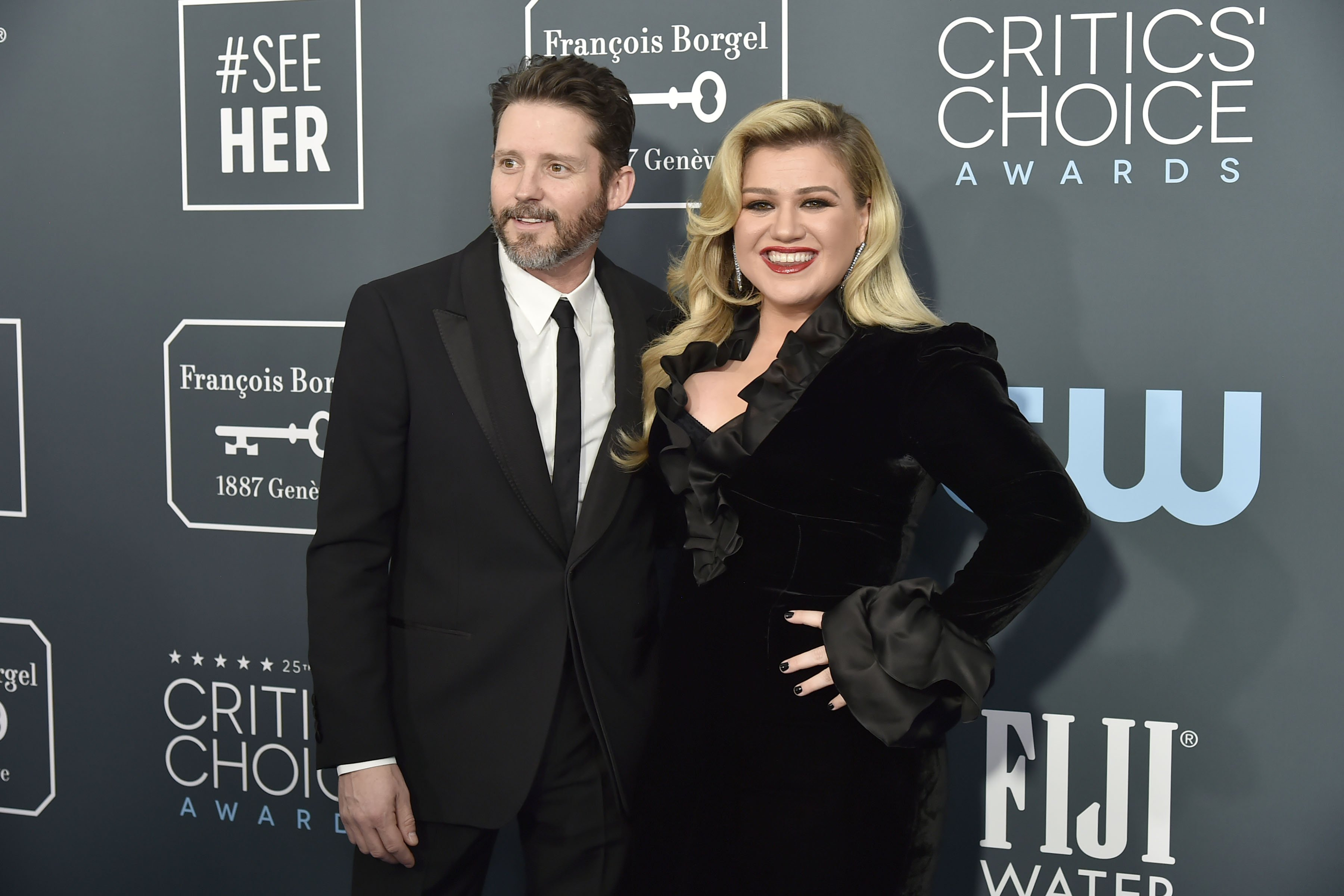 Blackstock and Clarkson pictured at the 25th Annual Critics' Choice Awards, 2020.   Photo: Getty Images