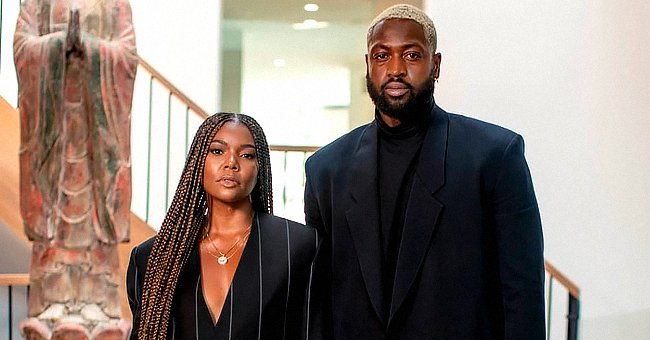 Check Out Gabrielle Union & Dwyane Wade as They Pose in Complimenting Black Outfits
