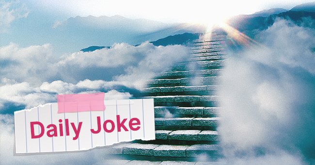 Daily Joke: Man Waits After Death to Go to Heaven