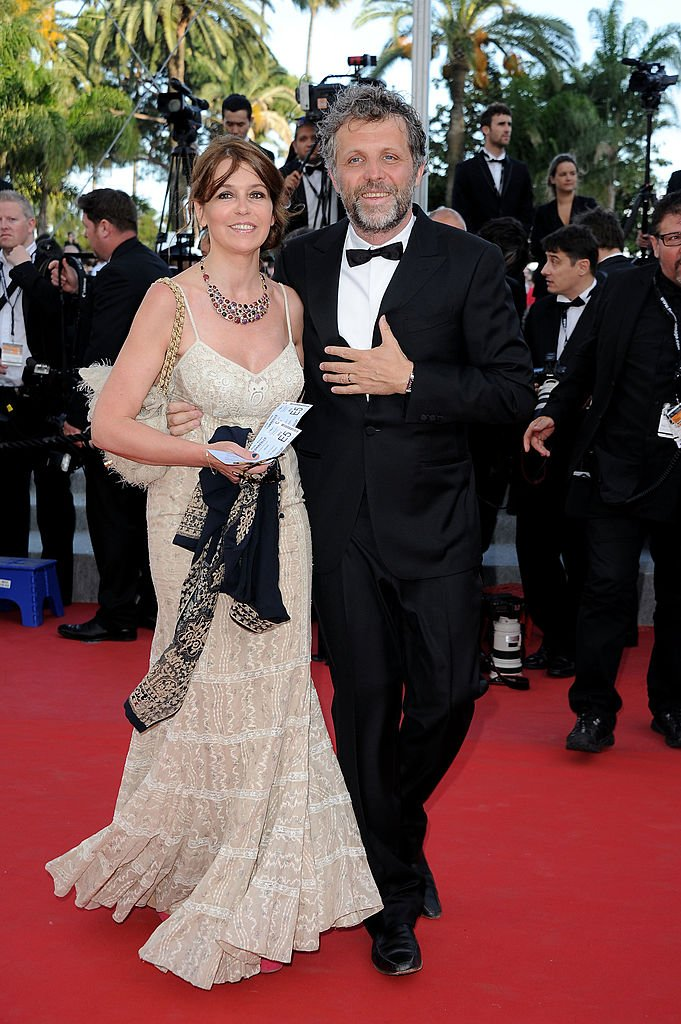 Stéphane Guillon et Muriel Cousin le 19 mai 2012 à Cannes. l Source : Getty Images
