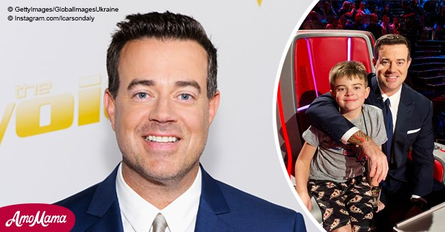 'The Voice' host Carson Daly hugs son Jackson who looks just like his little twin
