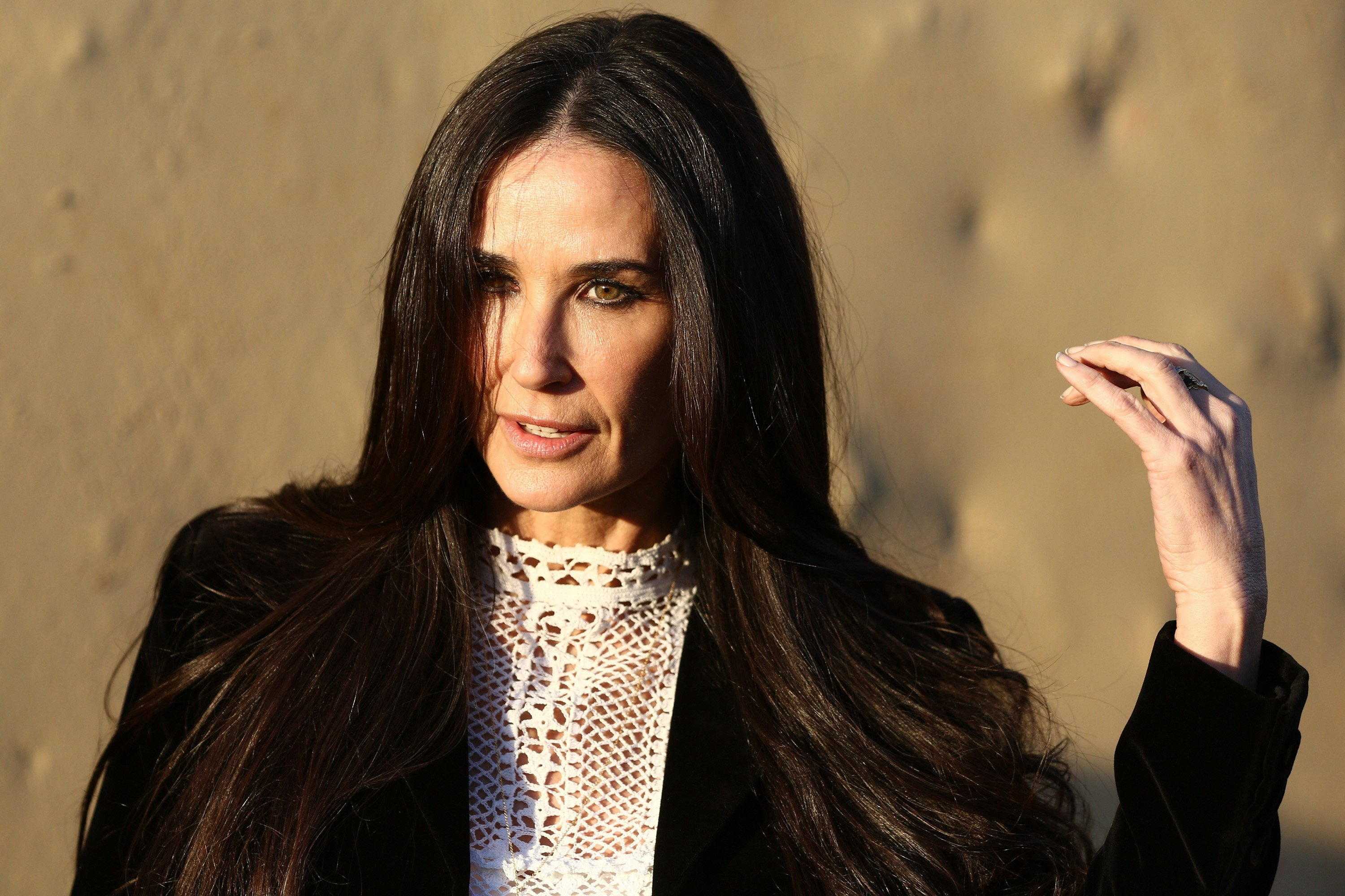 Actress Demi Moore during a 2018 runway show in Santa Monica, California. | Photo: Getty Images