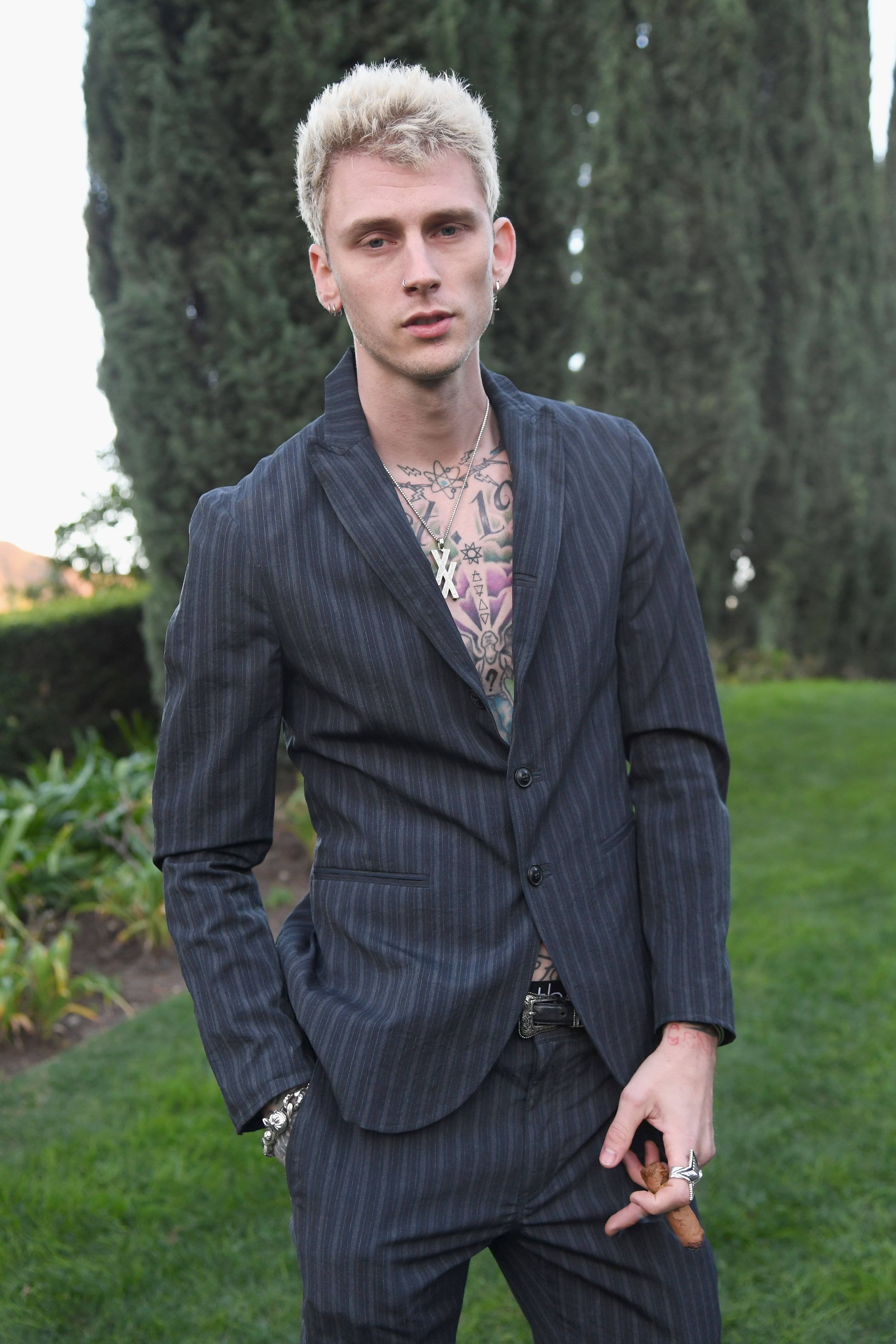 Machine Gun Kelly at the 2019 Roc Nation THE BRUNCH in February 2019 in Los Angeles | Source: Getty Images,