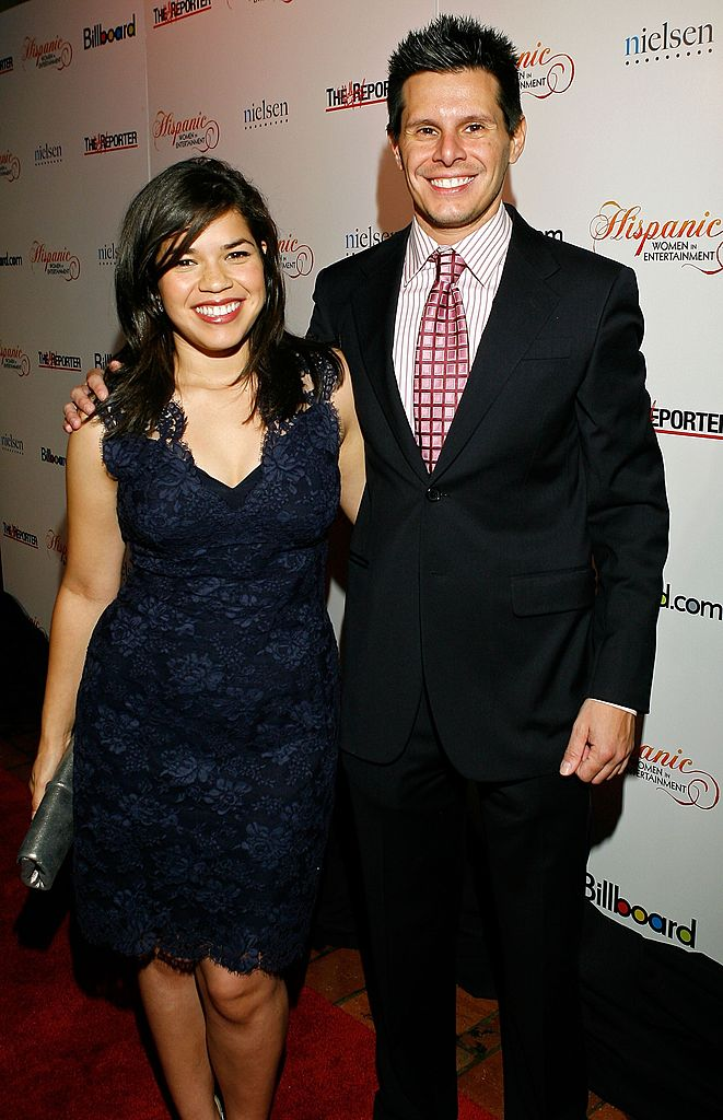 America Ferrera and writer/producer Silvio Horta arrive at the 1st annual Hispanic Women in Entertainment breakfast honoring America Ferrera held at the Roosevelt Hotel on October 9, 2007. | Photo: Getty Images