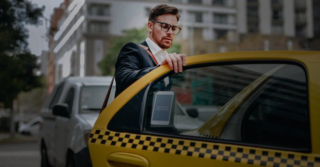 A man about to enter a cab.   Photo: Shutterstock