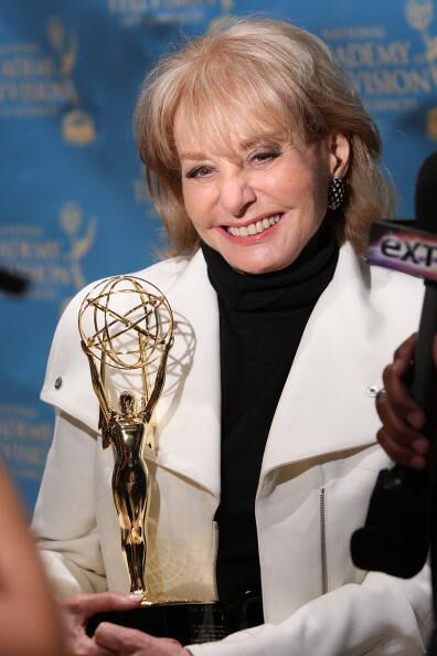 TV journalist Barbara Walters is interviewed after receiving a a Lifetime Achievement Award during the 30th annual News & Documentary Emmy Awards  | Getty Images