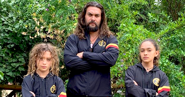 'Aquaman' Actor Jason Momoa Shares Cute Photos with His and Wife Lisa Bonet's Kids