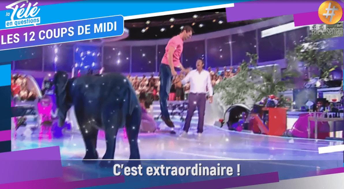Benoît exhibant sa joie lorsqu'il a remporté l'Etoile mystérieuse. | Télé-Loisirs