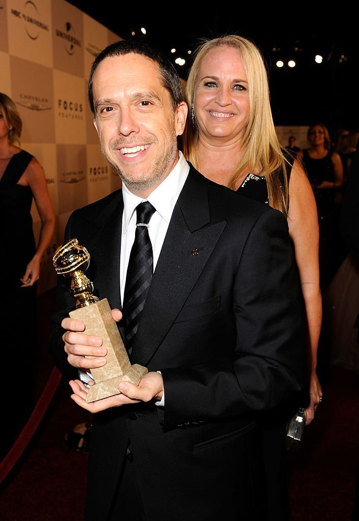 "Director Lee Unkrich and producer Darla K. Anderson, winners of Best Animated Feature for ""Toy Story 3,"" arrive at NBCUniversal/Focus Features Golden Globes Viewing and After Party sponsored by Chrysler held at The Beverly Hilton hotel 