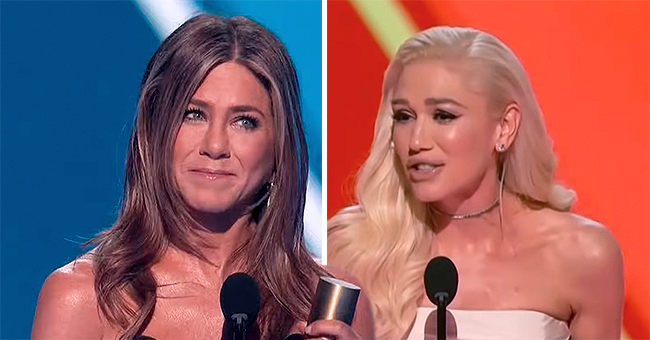 Jennifer Aniston Gets Kiss from Longtime Pal Gwen Stefani at The 2019 People's Choice Awards