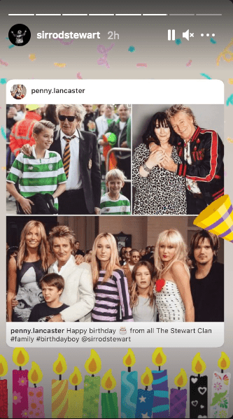 Rod Stewart's wife, Penny Lancaster wishes him a Happy Birthday on January 10, 2021. | Source: Instragram/sirrodstewart.