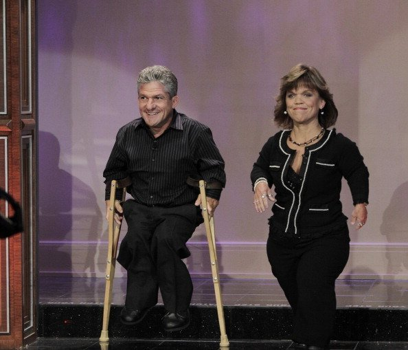 """The Roloffs"" Matt and Amy Roloff arrive on The Tonight Show with Jay Leno 