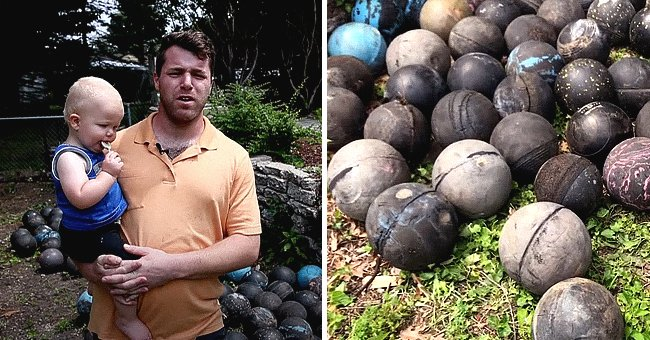 During renovations, a man finds hundreds of bowling bowls under his house | Photo: Youtube/mlive