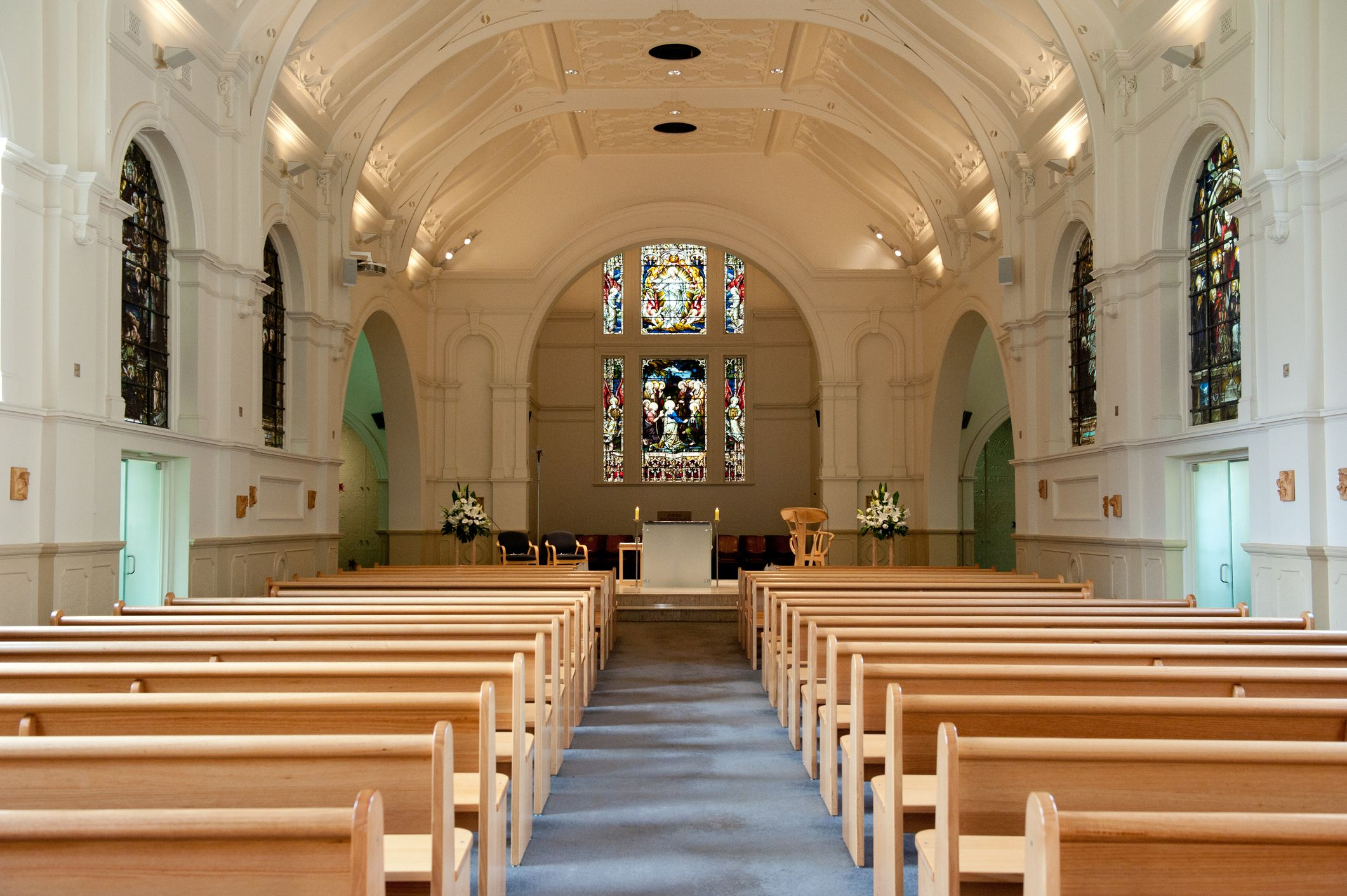 A glimpse of a church's interior.   Source: Getty Images