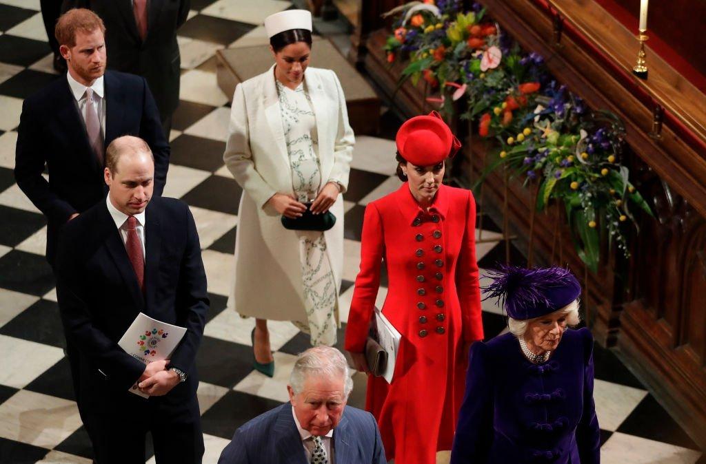 Miembros de la familia real británica se van después de asistir al Servicio de la Mancomunidad |Créditos: Getty Images/GlobalImagesUkraine