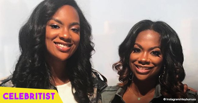 Kandi Burruss' daughter stuns in denim mini-shorts & jacket folllowing major weight loss