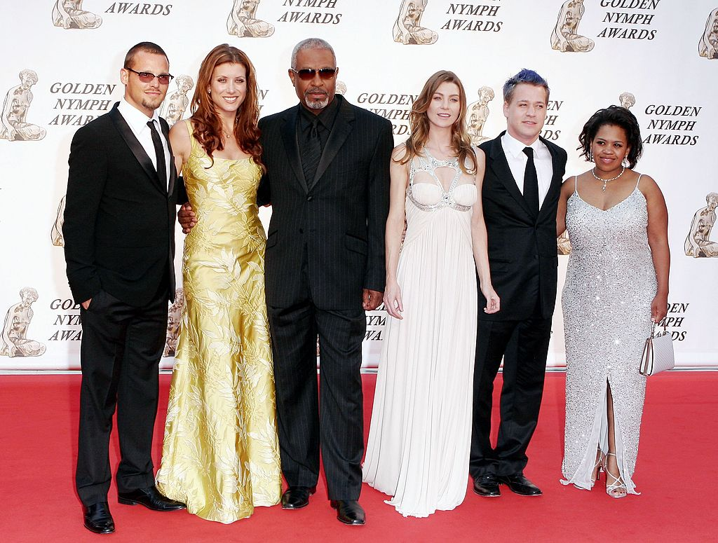 Justin Chambers, Kate Walsh, James Pickens Jr., Ellen Pompeo,T.R. Knight and Chandra Wilson attend the 46th annual Monte Carlo Television Festival in Monaco on July 1, 2006 | Photo: Getty Images