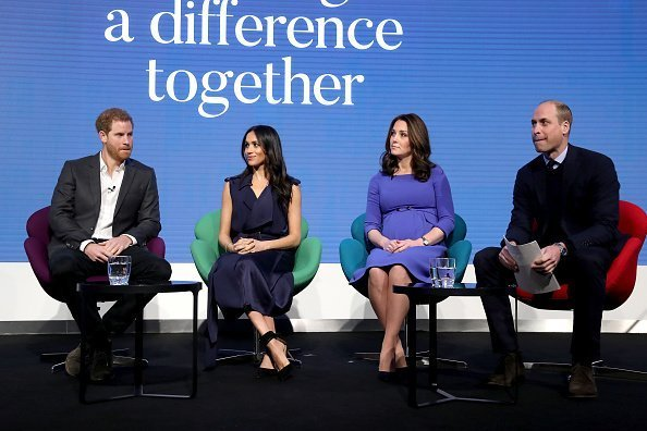 Prince Harry, Meghan Markle, Kate Middleton, and Prince William at Aviva on February 28, 2018 in London, England. | Photo: Getty Images
