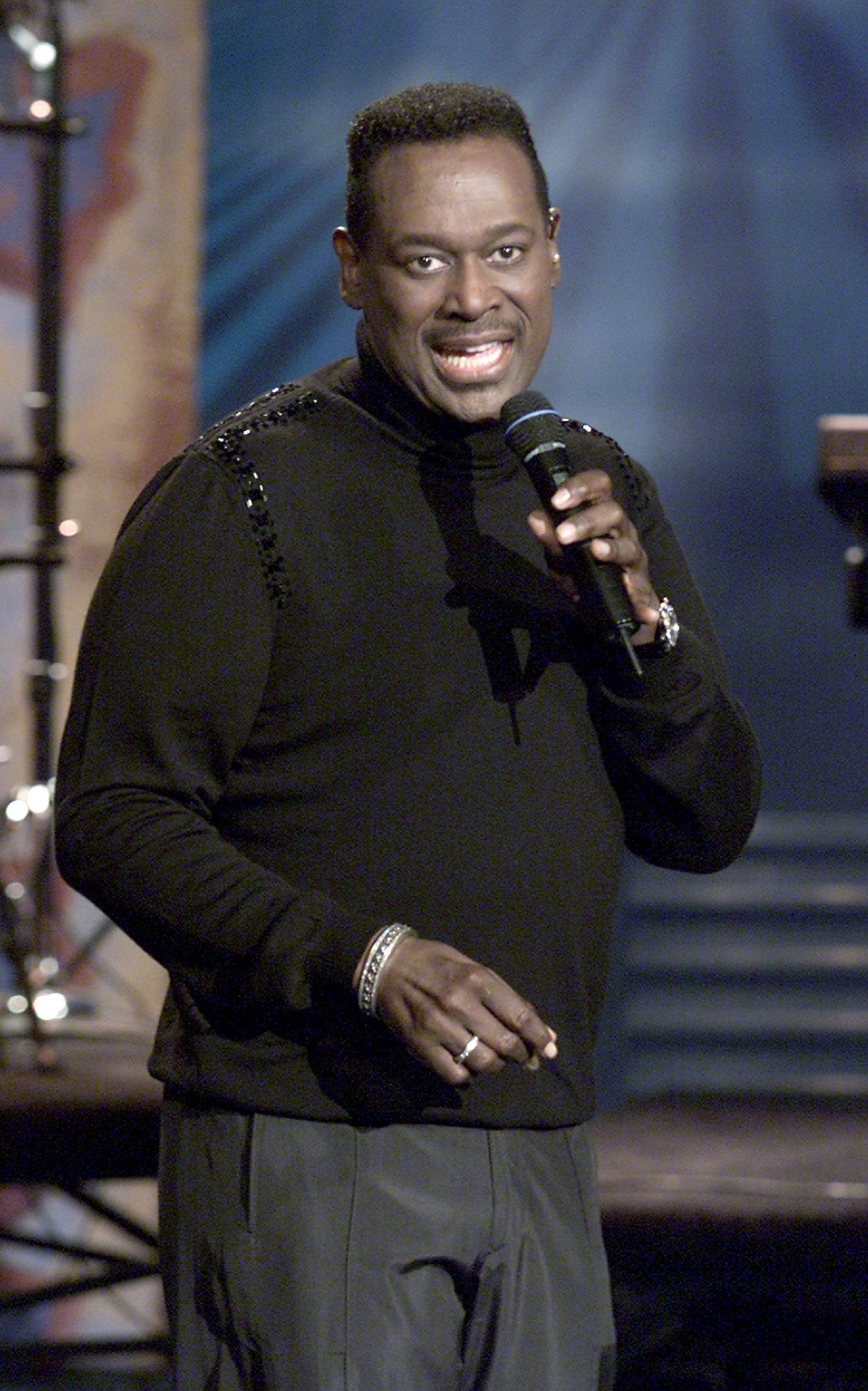 Luther Vandross at the 'Tonight Show with Jay Leno' at the NBC Studios in California on Jun. 20, 2001. |Photo: Getty Images