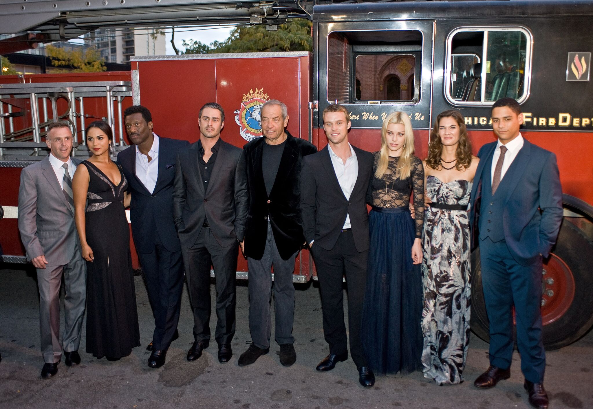 "The cast and crew of NBC's ""Chicago Fire"" arrives at the premiere at the Chicago History Museum 