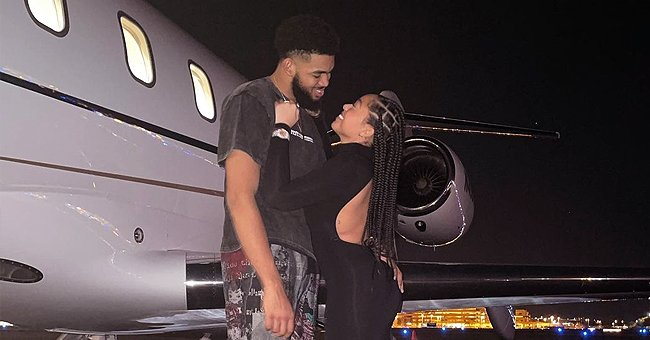 Jordyn Woods & Karl-Anthony Towns Look Romantic on a Private Jet Celebrating a Friend's Wedding