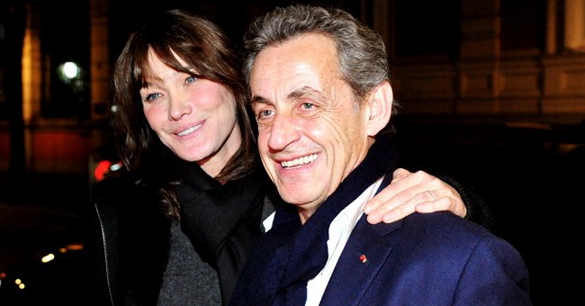 Carla Bruni and Nicolas Sarkozy arriving at Santo Mauro Hotel after Bruni's concert on January 10, 2018 in Madrid, Spain. | Photo: Getty Images
