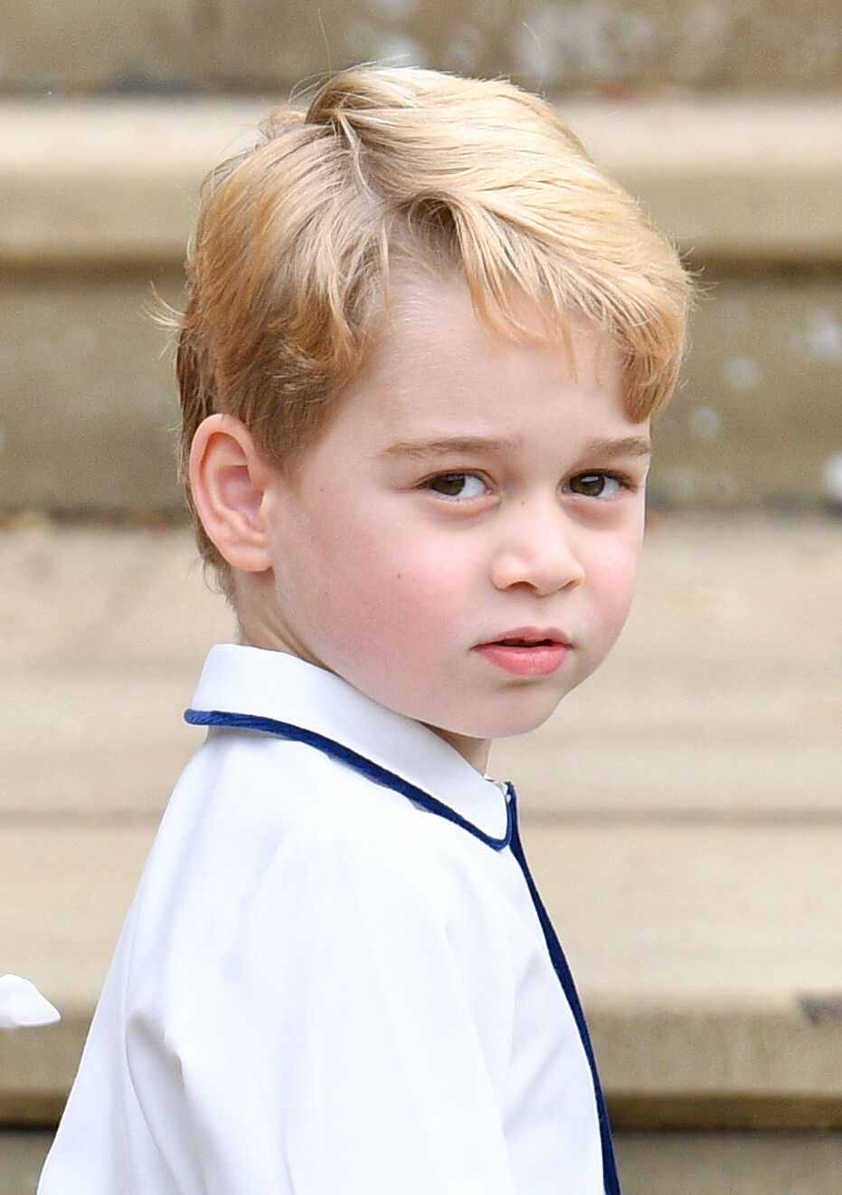 Prince George of Cambridge attends the wedding of Princess Eugenie of York and Jack Brooksbank at St George's Chapel in Windsor, England | Photo: Getty Images