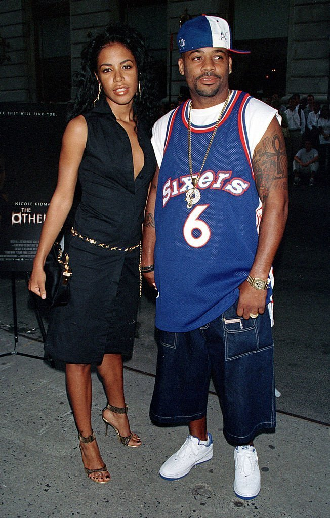 "Aaliyah and her boyfriend Damon Dash attend the premiere of ""The Others"" 