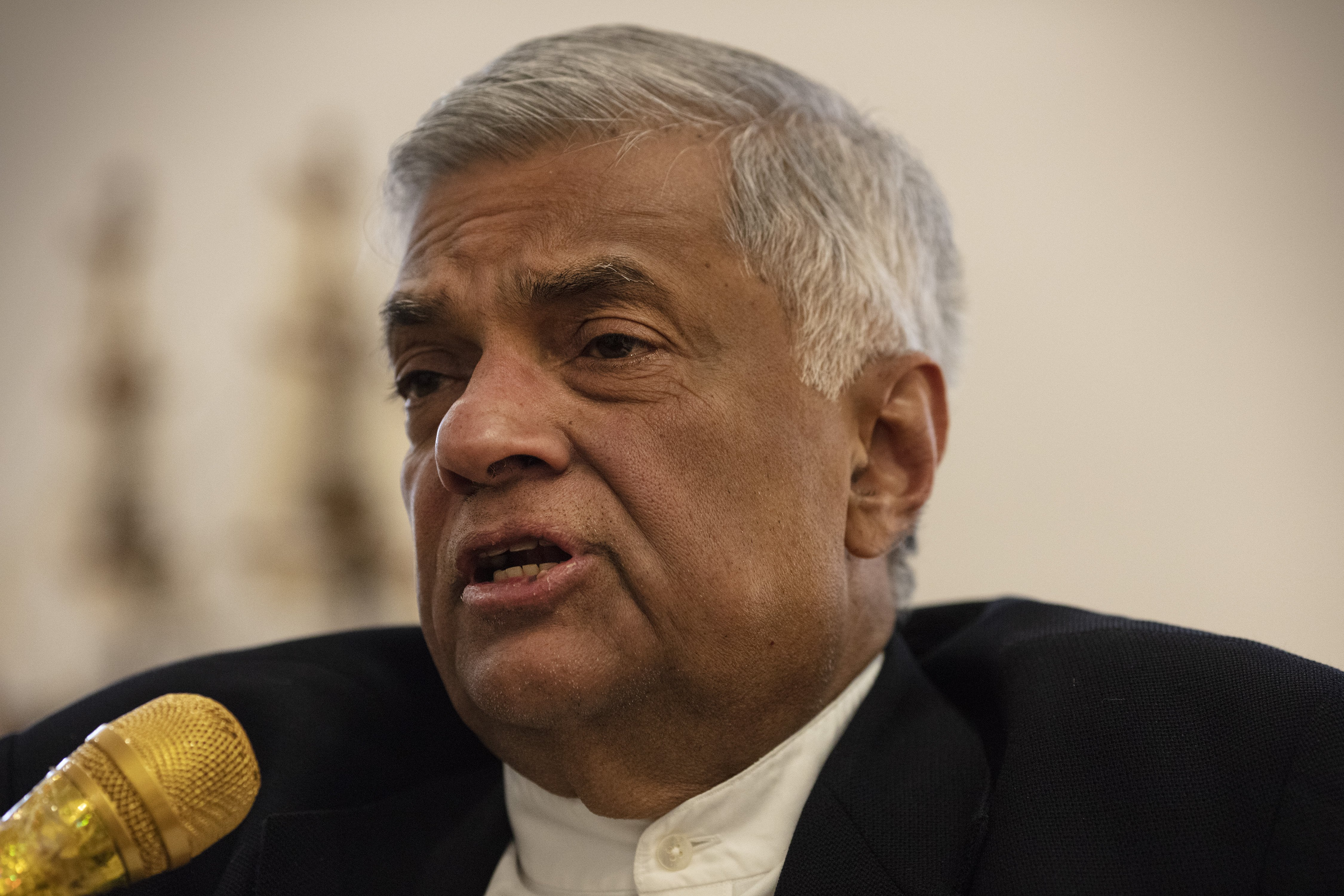 Sri Lanka Prime Minister Ranil Wickremesinghe at his office | Photo: Getty Images