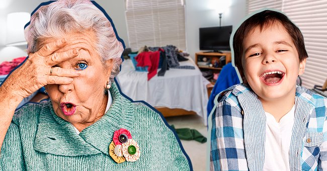 Daily Joke: Old Lady Comes Home and Finds the Place in a Mess