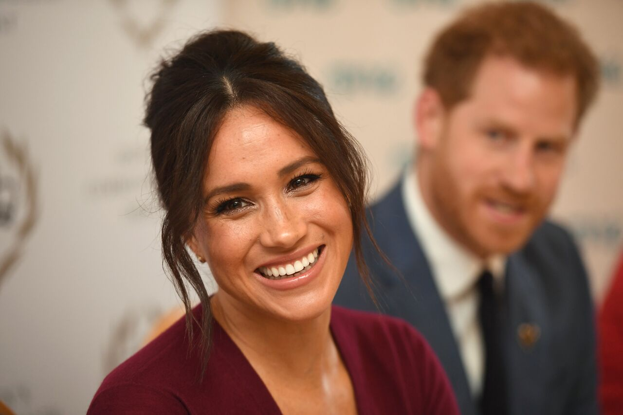 Duchess Meghan of Sussex with her husband Prince Harry/ Source: Getty Images