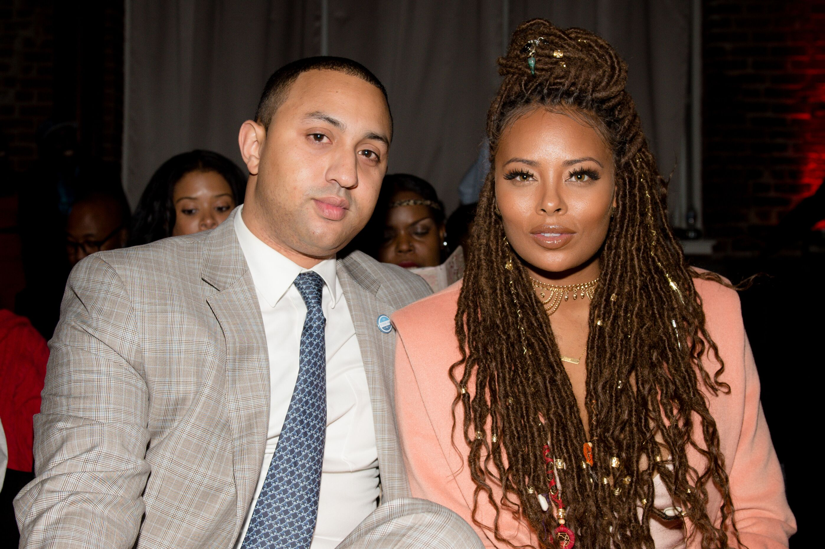 Eva Marcille and Michael Sterling attend an event together | Source: Getty Images/GlobalImagesUkraine