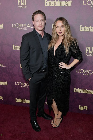 Matthew Alan and Camilla Luddington attend the 2018 Pre-Emmy Party hosted by Entertainment Weekly and L'Oreal Paris at Sunset Tower on September 15, 2018, in Los Angeles, California. | Source: Getty Images.