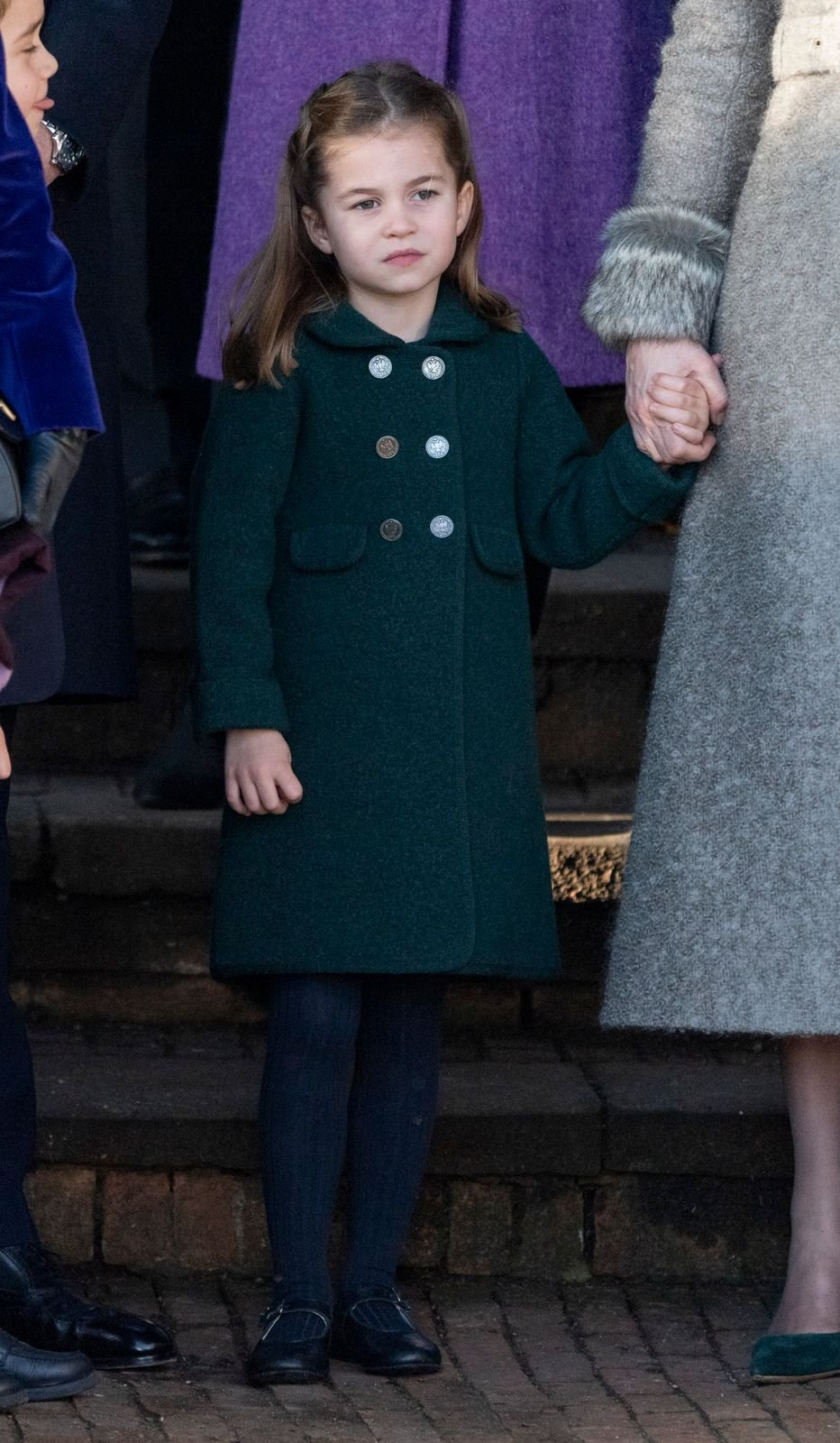 Princess Charlotte at the Christmas Day Church service at Church of St Mary Magdalene on December 25, 2019, in King's Lynn, United Kingdom | Photo: UK Press Pool/UK Press/Getty Images