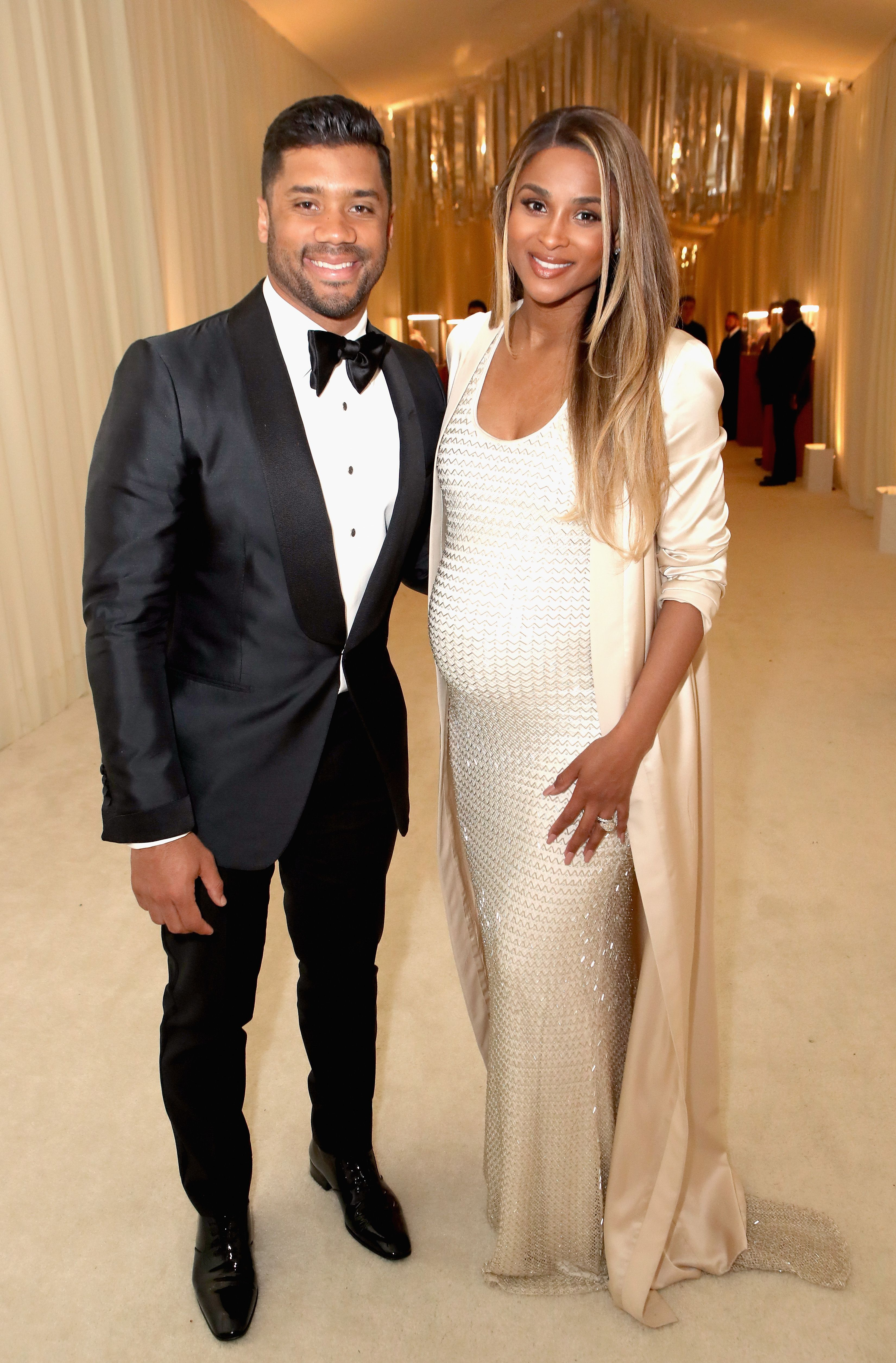 Russell Wilson and singer Ciara at the 25th Annual Elton John AIDS Foundation's Academy Awards Viewing Party in Hollywood in 2017 | Source: Getty Images