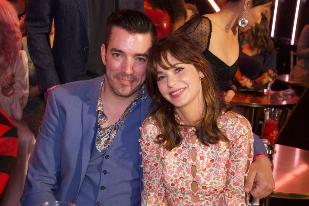 "Zooey Deschanel and Jonathan Scott attend ""Dancing with the Stars"" - ""Movie Night"" - Lights, camera, action!, September 20, 2019 