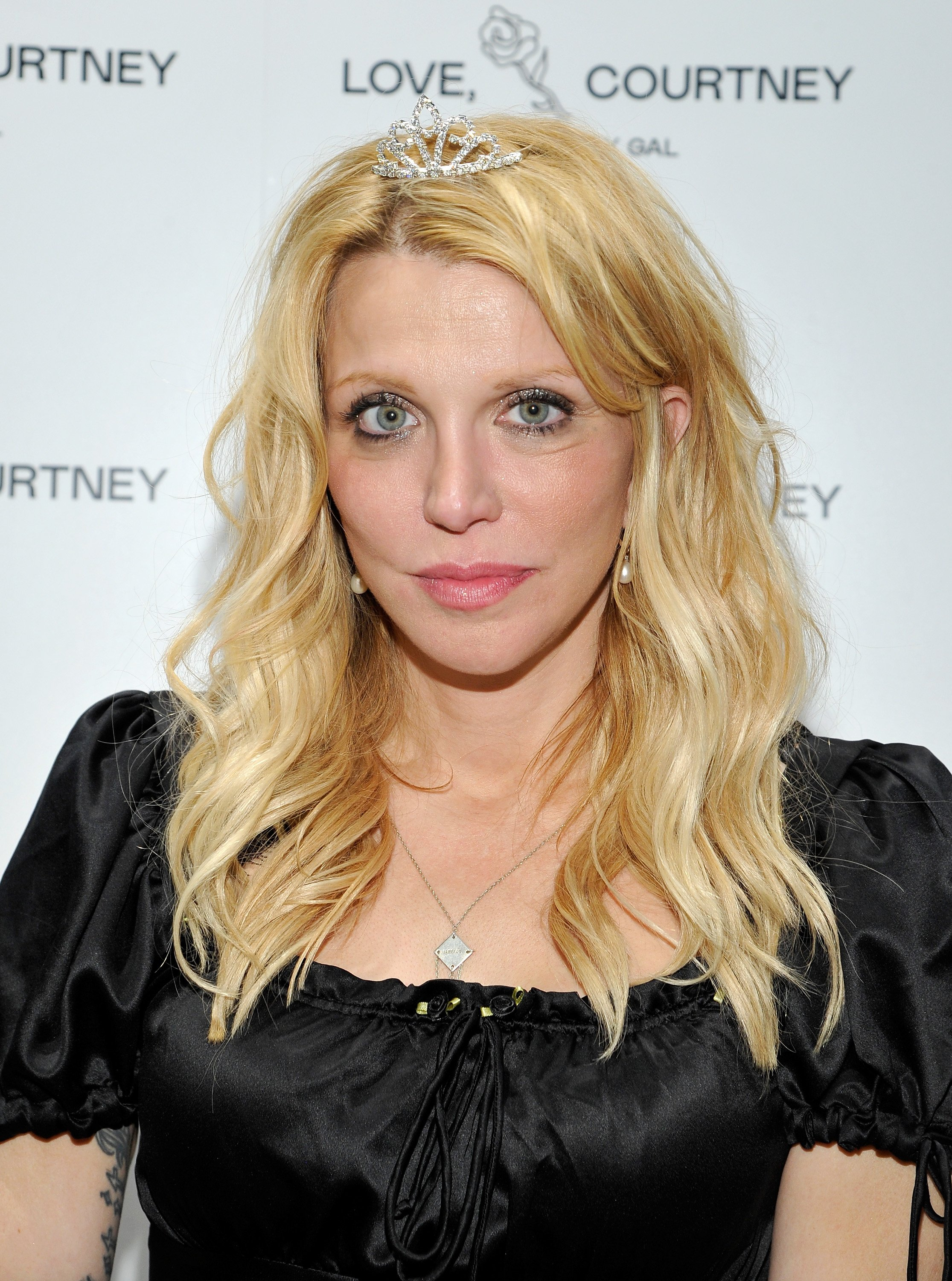 Courtney Love pictured at the Love, Courtney by Nasty Gal launch party, 2016, California. | Photo: Getty Images.