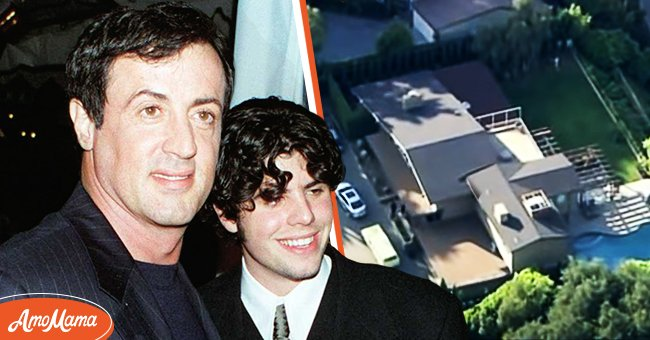 Picture of actor Sylvester Stallone and his son, Sage | Photo: Getty Images // youtube.com/CNN