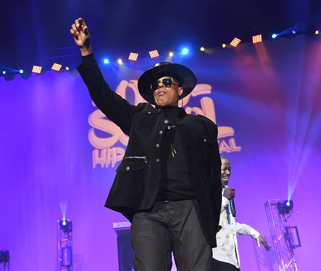"""Whodini co-vocalist John """"Ecstasy"""" Fletcher at the 2016 Old School Hip Hop New Year's Eve Festival at Philips Arena in Atlanta, Georgia on December 31, 2016. 