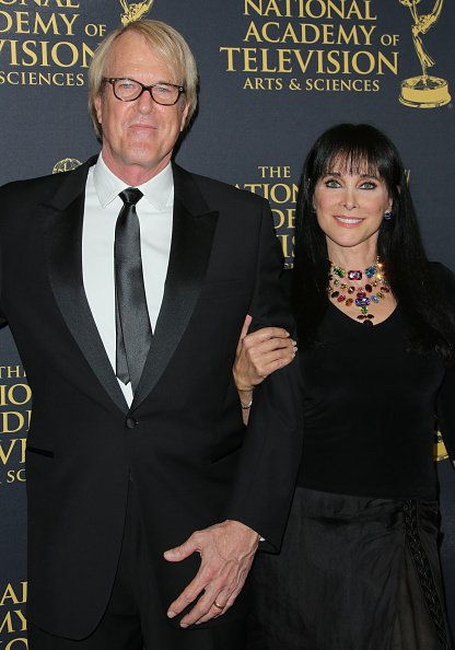 John Tesh and Connie Sellecca at The Universal Hilton Hotel on April 24, 2015 in Universal City, California. | Photo: Getty Images